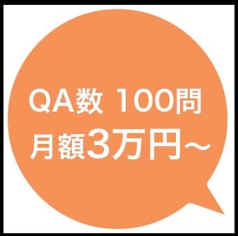 QA数100問 月額3万円~